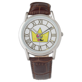 Clock Brown Leather - Transgênero Transexual Wrist Watches