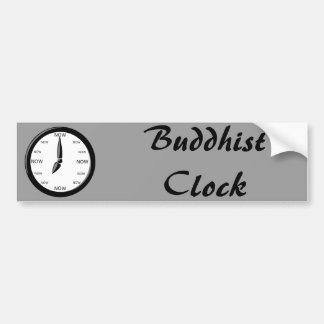 Clock - Buddhist Clock Bumper Sticker