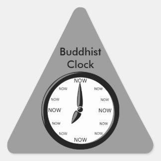 Clock -  Buddhist Clock Triangle Sticker