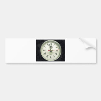 Clock Bumper Sticker