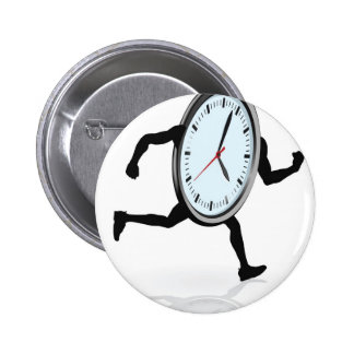 Clock character running pins