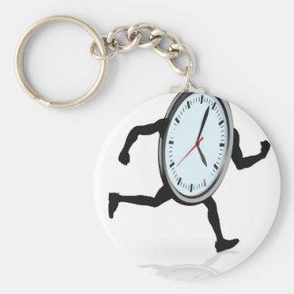 Clock character running key chain