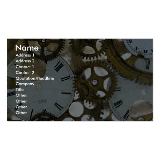 Clock cogs in ice Double-Sided standard business cards (Pack of 100)