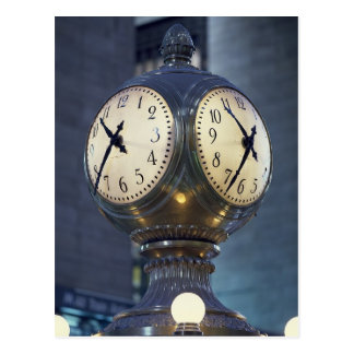 Clock Concourse Grand Central Station New York Postcard