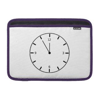 Clock Displaying Time MacBook Air Sleeves