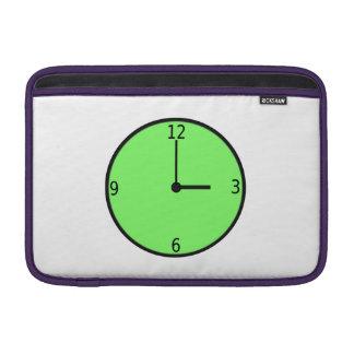 Clock Displaying Time MacBook Sleeve