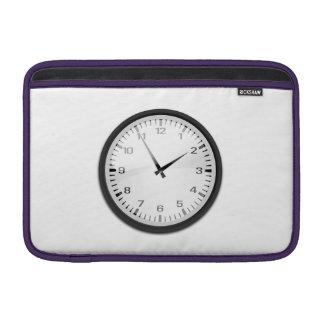 Clock Displaying Time MacBook Sleeves