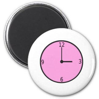 Clock Displaying Time Fridge Magnet