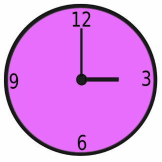 Clock Displaying Time Cut Outs