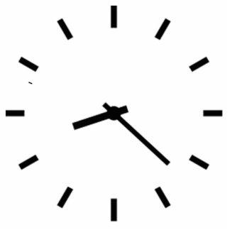 Clock Displaying Time Photo Cutout