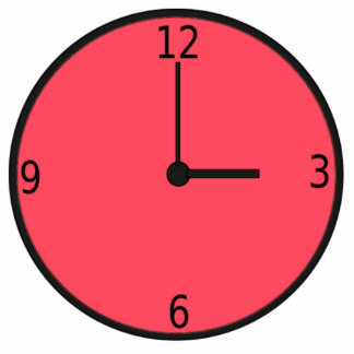 Clock Displaying Time Cut Out