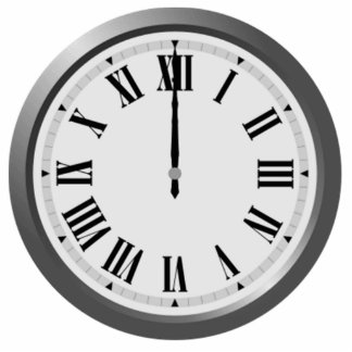 Clock Displaying Time Photo Cut Outs