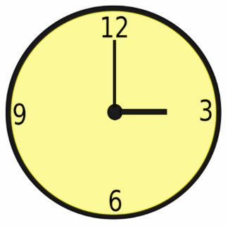 Clock Displaying Time Photo Cut Out