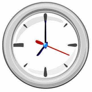 Clock Displaying Time Photo Cutouts