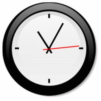 Clock Displaying Time Photo Sculpture