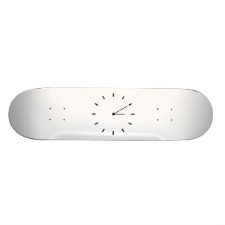 Clock Displaying Time Skateboard
