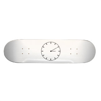 Clock Displaying Time Skateboard Deck