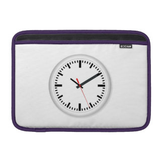 Clock Displaying Time Sleeve For MacBook Air