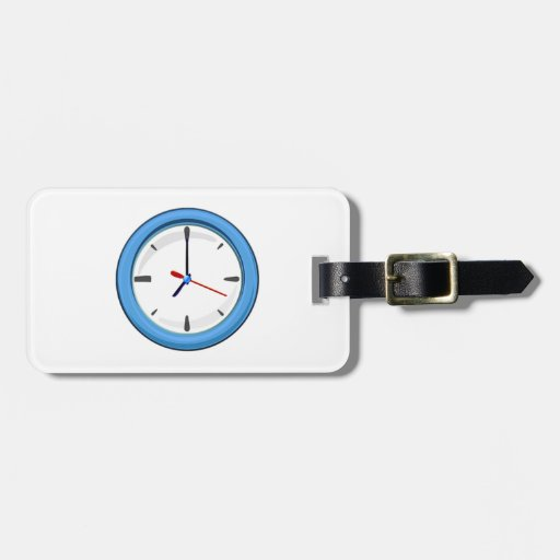 Clock Displaying Time Tag For Bags