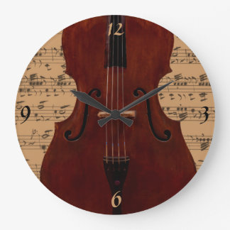 Clock - Double Bass with music - Pick your color
