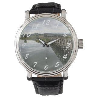 Clock Escalante salt marsh. Cantabria Wrist Watch