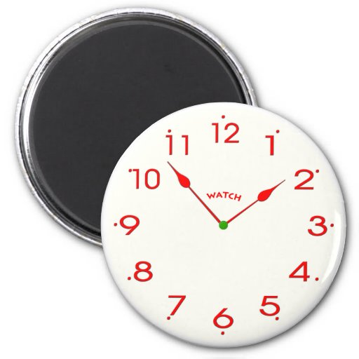 clock face_02 2 inch round magnet