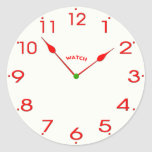 clock face_02 classic round sticker