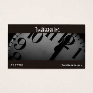 Clock Face Business Card Template
