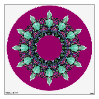 clock face kaleidoscope fractal ART I Wall Sticker