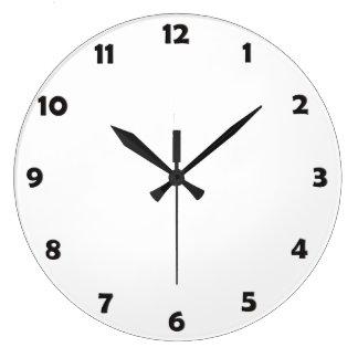 Clock Face Numbers - black Wallclocks