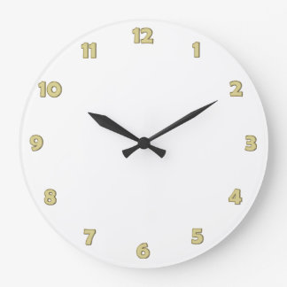 Clock Face Numbers - GoldOutline - for your design