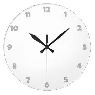 Clock Face Numbers - Water Drops Wallclocks