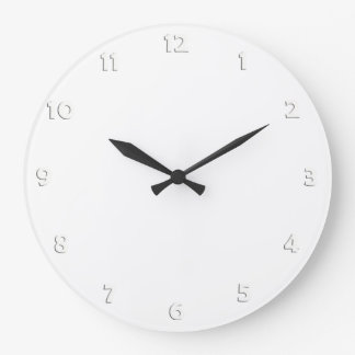 Clock Face Numbers - white