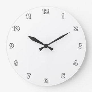 Clock Face Numbers - white grey