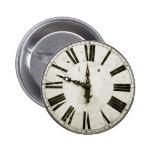 Clock Face Pinback Button