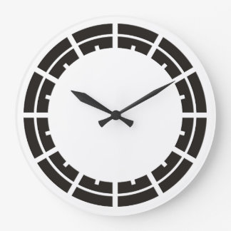 Clock Face Ring Stripes black for your design