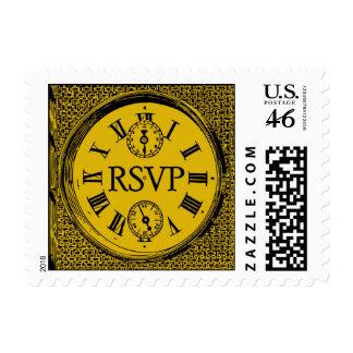 Clock Face RSVP stamp