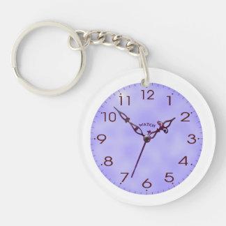 clock face Single-Sided round acrylic keychain