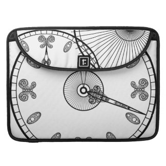 Clock Face Sleeve For MacBooks