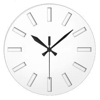Clock Face Stripes - white stamp for your design Clocks