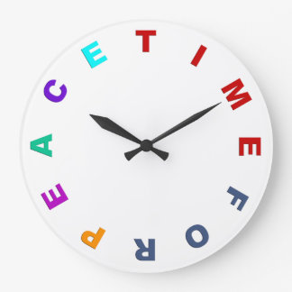 Clock Face - TIME FOR PEACE colored