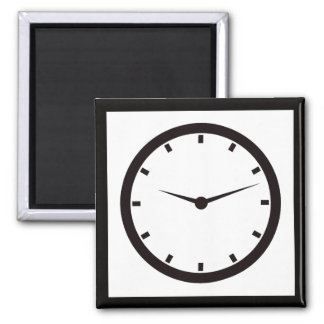 Clock Face with Hands Magnet