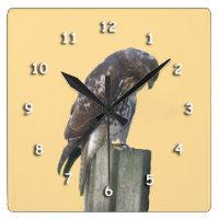 Clock - Falcon on Post