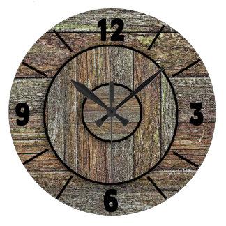 Clock - Faux Wood Design -