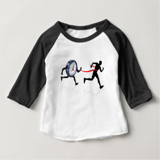 Clock Finish Line Race Man Concept Baby T-Shirt