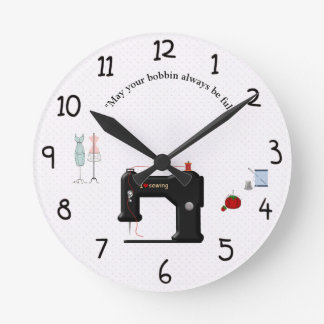 Clock for the seamstress or crafter in all of us