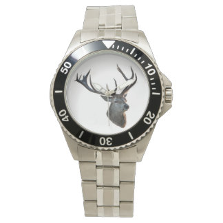 Clock for the Waidmann with motive for deer! Wrist Watch