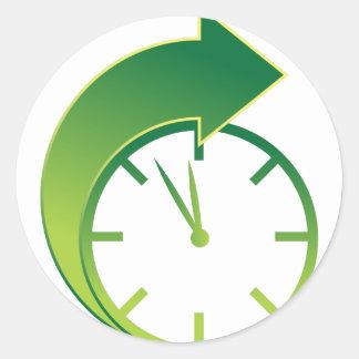 Clock Forward Arrow Time Icon Classic Round Sticker