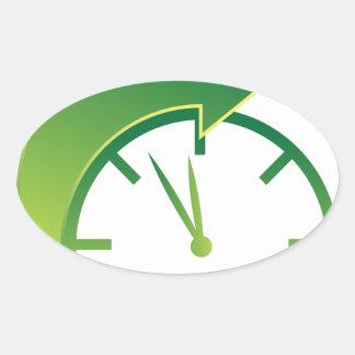 Clock Forward Arrow Time Icon Oval Sticker