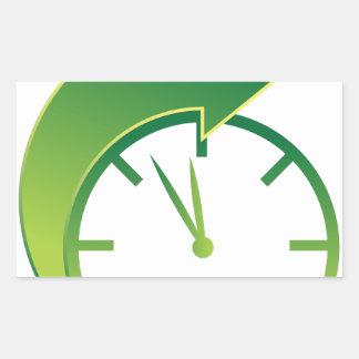 Clock Forward Arrow Time Icon Rectangular Sticker